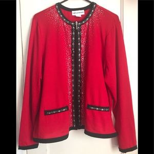 NWT Cathy Daniels Cardigan with Sequins